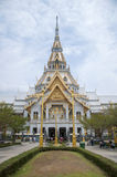 Beautiful Sothon temple in Thailand. The Beautiful temple in Thailand royalty free stock photo