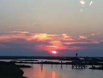 Beautiful Southern Louisiana Sunset Royalty Free Stock Photography