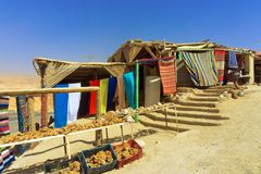 Beautiful Souvenirs Shops in Desert in Tunisia. stock image