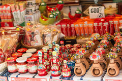 Beautiful souvenirs. At a stand in Budapest, Hungary Royalty Free Stock Image