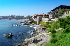 Beautiful Sozopol seaside panorama Stock Image
