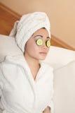 Beautiful spa Chinese girl Stock Image