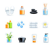 Beautiful Spa collection Stock Images