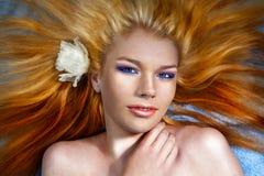 Beautiful spa girl Stock Images
