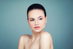Beautiful Spa Girl with Natural Nude Makeup and Healthy Skin. Sp Stock Photos