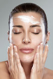Beautiful Spa Girl. Skincare concept Stock Photos