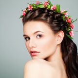Beautiful Spa Model with Healthy Skin Royalty Free Stock Images