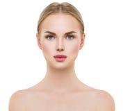 Beautiful spa modelmeisje Perfecte verse schone huid royalty-vrije stock afbeelding