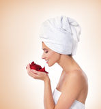 Beautiful spa portrait of a young woman Stock Photo