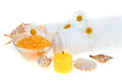 Beautiful spa setting Stock Photography
