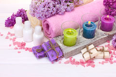 Beautiful spa setting Royalty Free Stock Photo