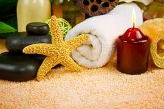 Beautiful spa setting Stock Images
