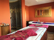 Beautiful spa and wellness room stock photos