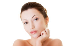 Beautiful spa woman, with healthy clean skin Royalty Free Stock Photos