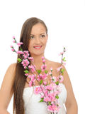Beautiful spa woman with long healthy hair Royalty Free Stock Photo