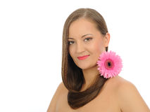 Beautiful spa woman with long healthy hair Royalty Free Stock Photography