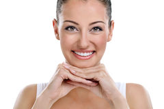 Beautiful spa woman portrait, clear fresh skin. Stock Images