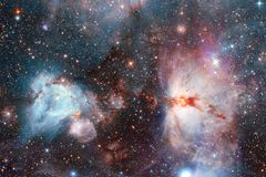 Beautiful space background. Cosmoc art. Elements of this image furnished by NASA.  royalty free stock photo