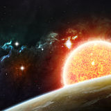Beautiful space background. Elements of this image Royalty Free Stock Photography