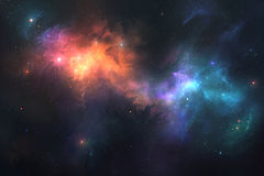 Beautiful space background Stock Image