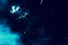 Beautiful space background with stars sky and galaxies and constellations in outer space. 3d rendering Royalty Free Stock Photos