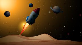 A beautiful space scene. Illustration royalty free illustration
