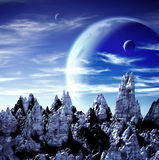 Beautiful space scene Stock Images