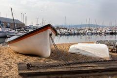 Beautiful Spanish boats Royalty Free Stock Photos