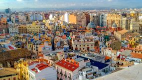 Beautiful Spanish city of Valencia. Photos of the historic center.  royalty free stock photography