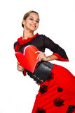 Beautiful spanish dancer. Stock Image
