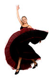 Beautiful spanish dancer Stock Photos