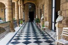 Beautiful spanish palace in Havana stock photography