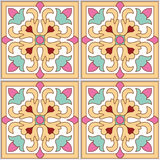 Beautiful Spanish seamless ornamental tile background vector illustration Stock Photo