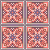 Beautiful Spanish seamless ornamental tile background Stock Images
