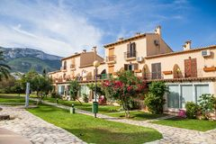 Beautiful spanish villa with swimming pool, view Stock Image