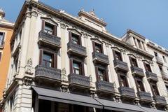 Beautiful spanish vintage  building in Barcelona ,Spanish Royalty Free Stock Photo