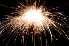 Beautiful sparkler on black background Stock Photos