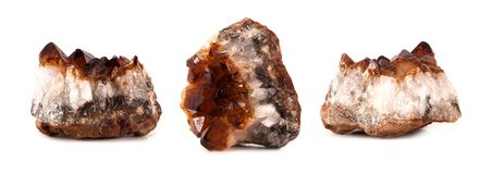 Beautiful sparkling crystals, gemstone isolated stock images