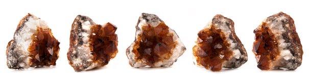 Beautiful sparkling crystals, gemstone isolated stock photo
