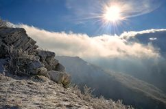 Beautiful spectacular winter landscape.