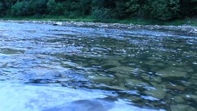 Beautiful speed mountainous river stock footage