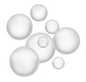 Beautiful spheres. Isolated on white Stock Photos