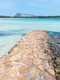 Beautiful spiaggia isuledda beach in north east Sardinia. Stunning spiaggia isuledda beach in north east Sardinia stock image