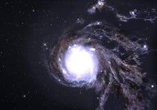 Beautiful spiral galaxy. Stock Photos