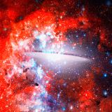 Beautiful spiral galaxy. Elements of this Image Furnished by NASA.  stock photo