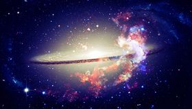 Beautiful spiral galaxy in outer space. Elements of this image furnished by NASA.  stock image