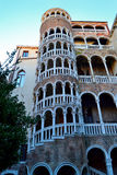 A Beautiful Spiral Staircase in Venice Stock Photo
