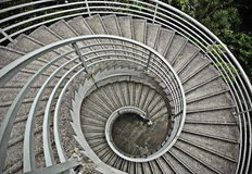 Beautiful spiraling stairs Royalty Free Stock Photography