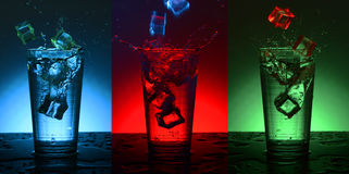 Beautiful splash cocktail with ice. Stock Images