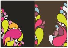 Beautiful splash drops background design Stock Images